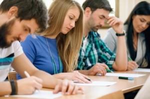 Teacher students studying